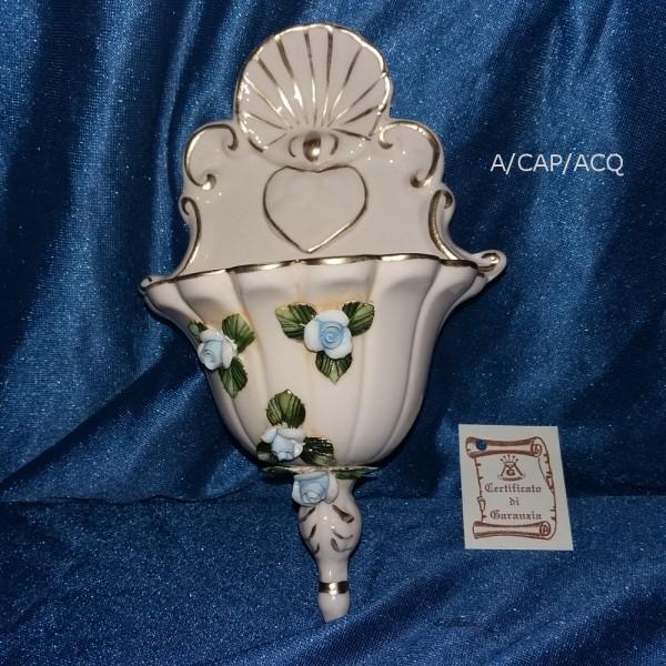 Acquasantiera ceramica capodimonte